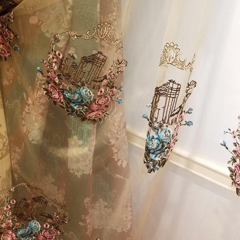 Textiles para el hogar de alta calidad 1*2.7 M tallada cordón bordado de gasa es