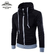 Hot New Men Hoody Brand Men Sweatshirts 2 Colors Zipper Slim Fit Solid Sportswear Men Hoodies Casual Men Hoodie Jacket