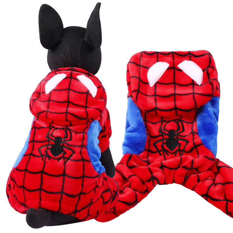 Hot Sale Cute Dragon Spiderman Winter Pet Dog Clothes Clothing For Small Large spiderman Dog Coats