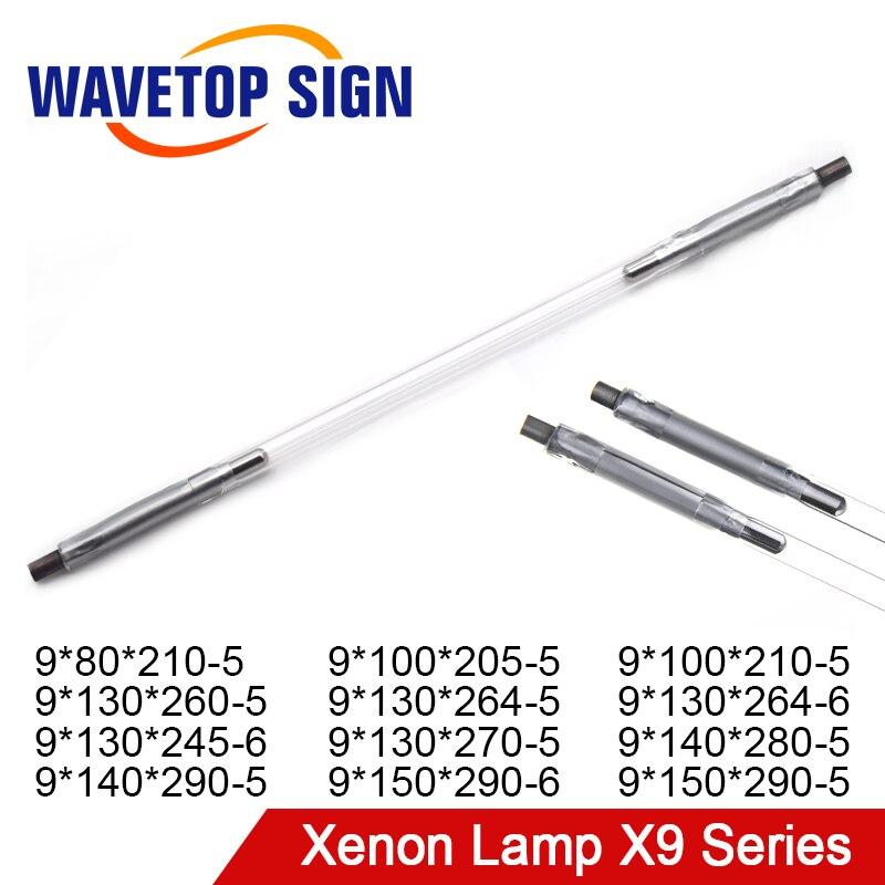 Lámpara de xenón láser WaveTopSign serie X9, lámpara de arco corto q-switch, luz pulsada de Flash Nd para corte de soldadura de fibra YAG 4 Uds. Bandas amortiguadoras antiarañazos para puerta de coche Protector de fibra de carbono para Infiniti fx-series qx-series Coupe EX37 EX25 JX35