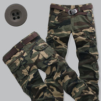 Mens Camo Cargo Pants Plus Size 28 40 Casual Outwear Loose Fashion Pants Man Army Military