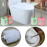 Easy Cleaning Tool Toilet Brush Head Holder Plastic Toilet Brush Holders Set Cleaner Bathroom Cleaning Tool Holder With Brush