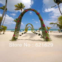 Romantic beach 8'x8′ CP Computer-painted Scenic Photography Background Photo Studio Backdrop HY-CM-3911