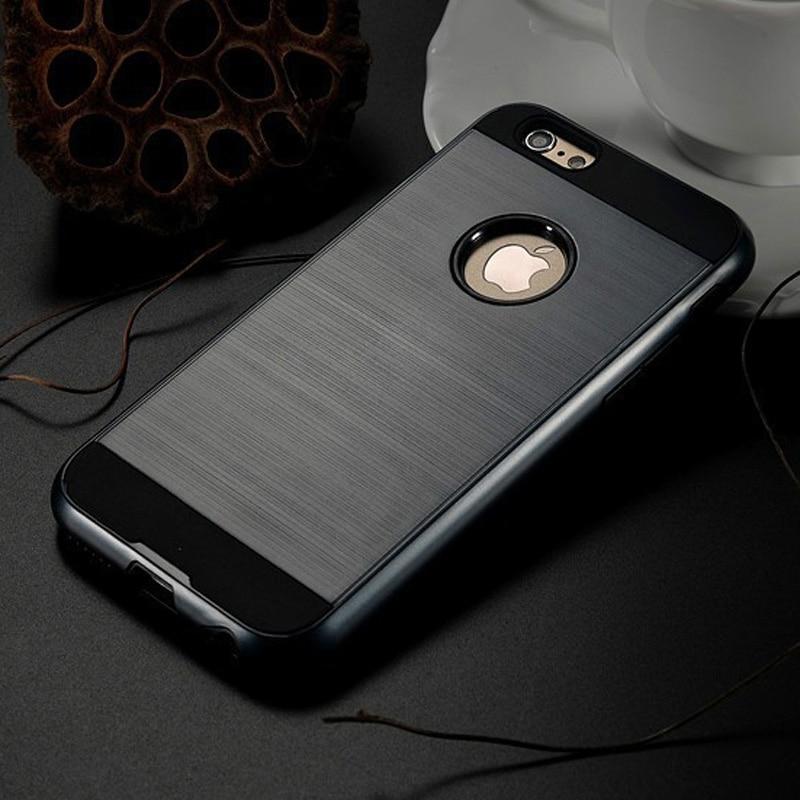 brushed plastic 100pcs fundas ip 7 plus case v5 brushed plastic silicone hybrid