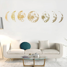 Creative Moon phase 3D Wall Sticker Home living room wall decoration Mural Art Decals background decor stickers