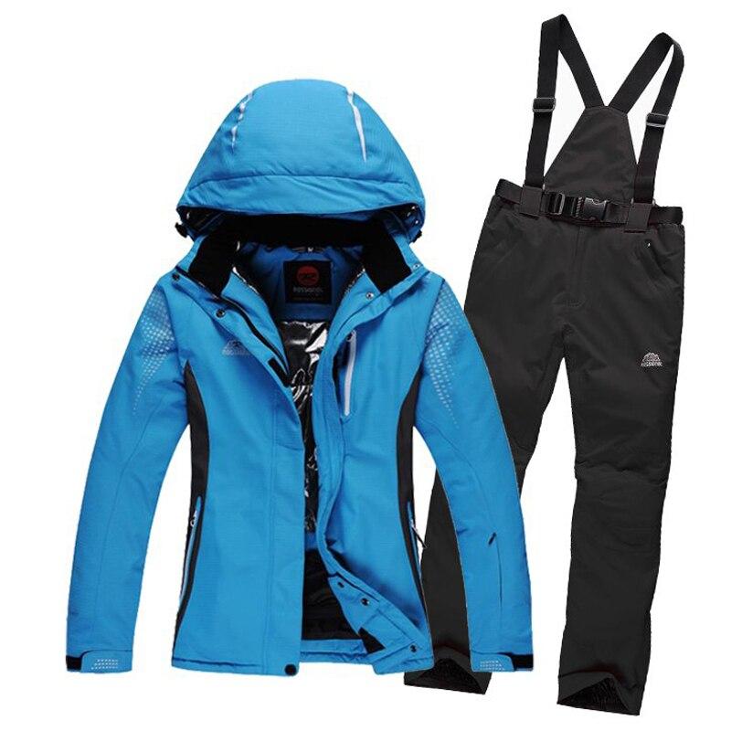 Prix pour Livraison gratuite Neige snowboard veste hommes femmes unisexe ski veste pantalon costumes d'hiver en plein air coupe-vent imperméable ski ensemble