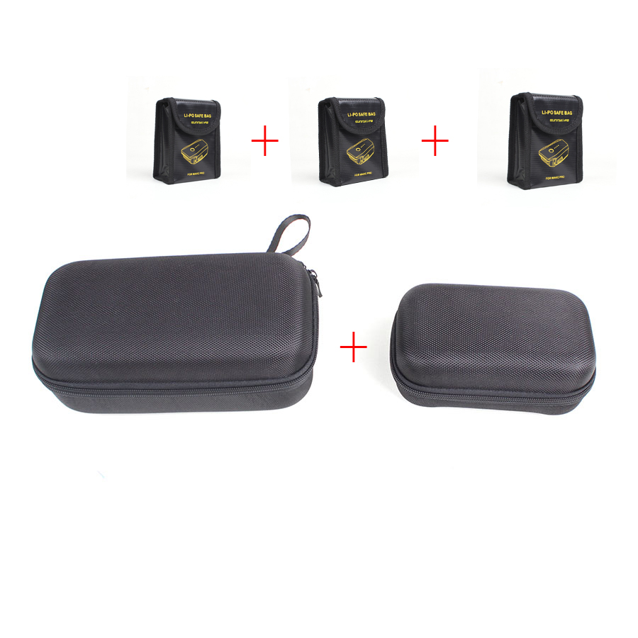 Drone Body Bag Remote Controller Bag LiPo Battery Safety Bag Protection Combo 5 Pieces Suit for