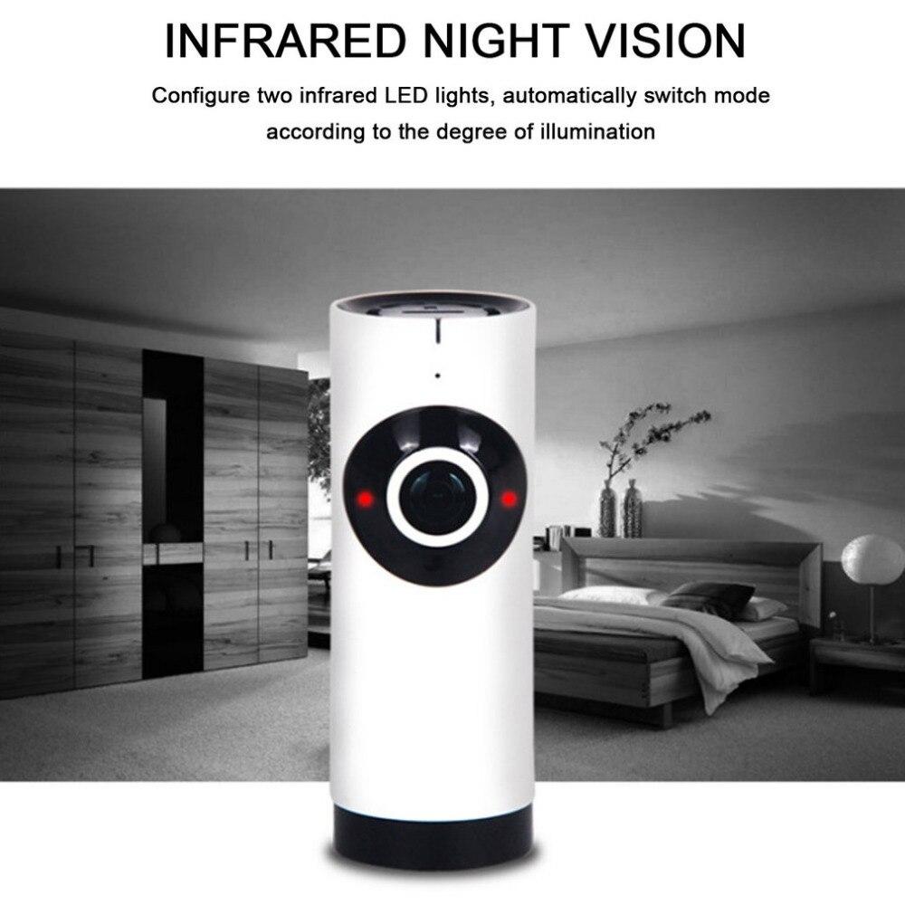 Video Surveillance 720p Wifi Panoramic Camera 360 Degree Fish-eye Smart Home Security Surveillance Baby Monitor Webcam Wireless Night Vision Camera Baby Monitors