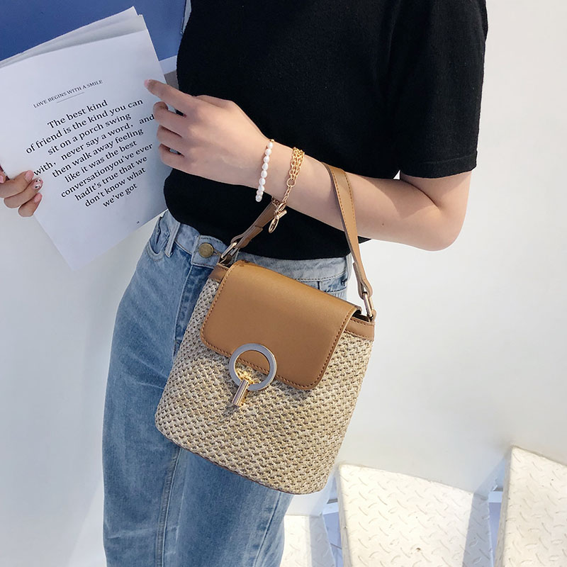 HTB1cEVkSVzqK1RjSZFvq6AB7VXaz - Small Straw Bucket Bags For Women Summer Crossbody Bags Lady Travel Purses and Handbags Female Shoulder Messenger Bag