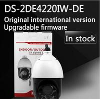 Free Shipping English Version DS 2DE4220IW D 2MP IP Camera Mini PTZ Camera Security Camera Instead