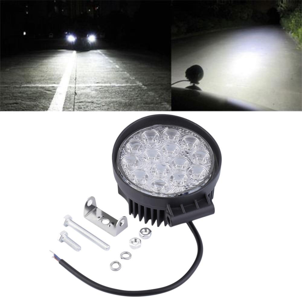 New 42W Off Road Flood Light Waterproof Round LED Work Light LED flood Lamp for Car Truck Boat SUV ATV hot selling