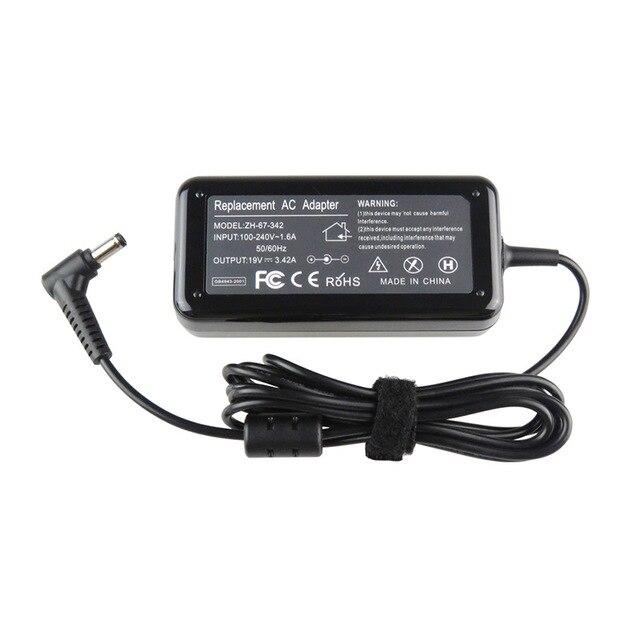1 ШТ. N101 Ноутбук Адаптер ПЕРЕМЕННОГО ТОКА для Lenovo/Asus/Toshiba/BenQ 19 В 3.42A 5.5X2.5 ММ AC Адаптер Питания Зарядное Устройство Черный