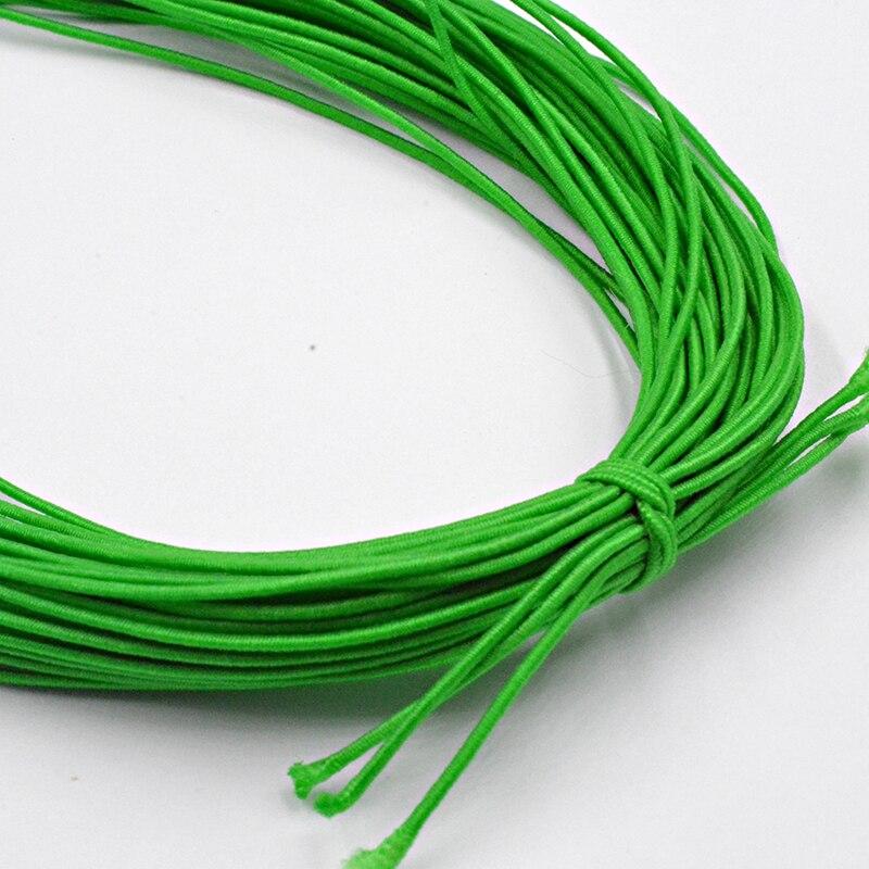 Новинка 0,8 мм на выбор, 12 цветов, эластичная веревка, шнур, бисер, сделай сам, для изготовления ювелирных изделий, браслет и ожерелье - Цвет: Зеленый