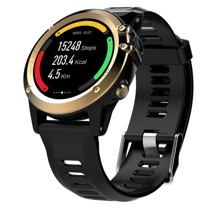 H1 3G Smartwatch Phone 1.39 Inch Android 4.4 MTK6572 Dual Core 1.2GHz 4GB ROM IP68 Waterproof 5.0MP Camera Pedometer pk H2 KW88 - 2