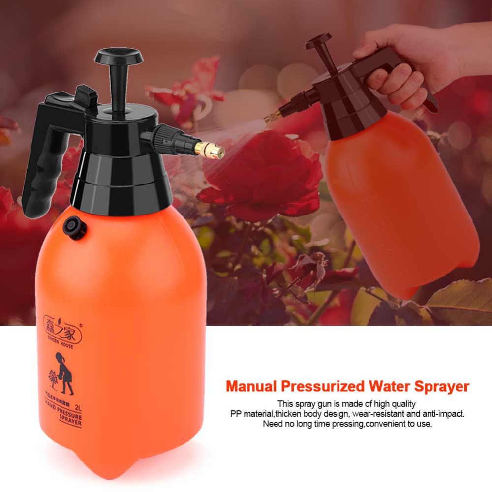 Портативный ручной распылитель давления воды 2/3 л, легко срабатывает, ручной опрыскиватель давления, домашняя садовая бутылка с распылителем для полива