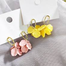 Pink Yellow Shell Flower Petal Drop Earrings For Women 2019 New Korean Earrings Leaves ks1 science revision and practice ages 5 7 listen up with free audio book