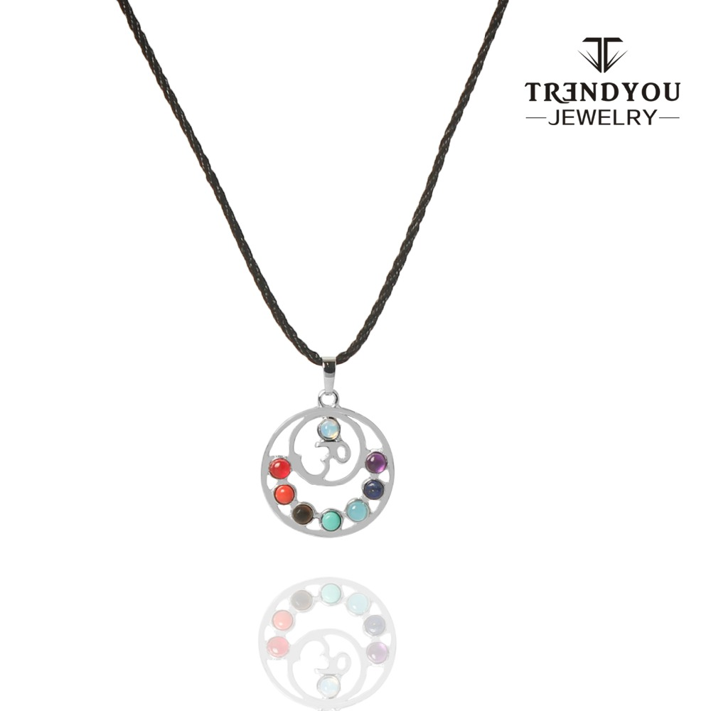 Trendyou hot sale 7 chakras reiki stones pendants health amulet trendyou hot sale 7 chakras reiki stones pendants health amulet healing 7 chakra 3d symbols stone charms pendant fit necklace in pendant necklaces from buycottarizona Images