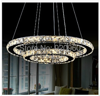 Crystal Chandeliers Ring Living Room Lights Simple Creative Personality Chandelier Lighting Different Sizes - DGY Indoor store