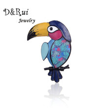 Vintage Bird Brooches for Women Unisex Elegant Suit Dress Animal Parrot Brooch Pin on Backpack Fashion Jewelry Enamel Pins 2019