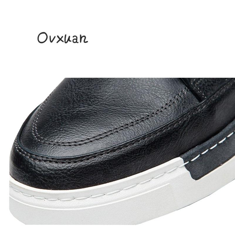 Müßiggänger gelb Top Formal brown Schuhe Aus Big Brogue Luxus Casual Männer Ovxuan Echtem Kleid Size grau Schwarzes Italienisch Marke Handgefertigt High Leder T4wqc1gH