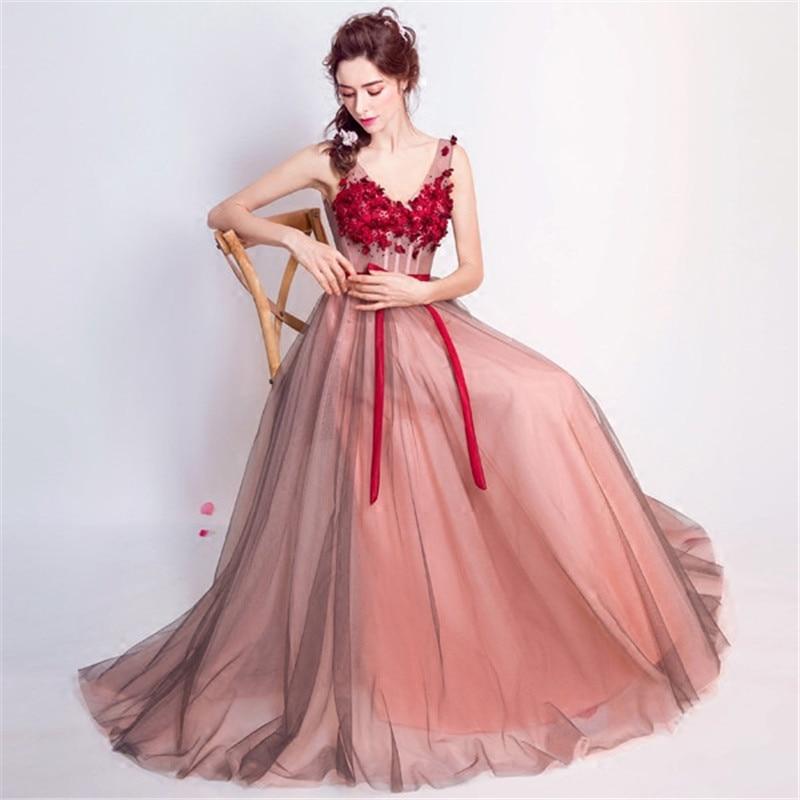 Perfecto Vestido De Novia De Vino Tinto Inspiración - Colección del ...