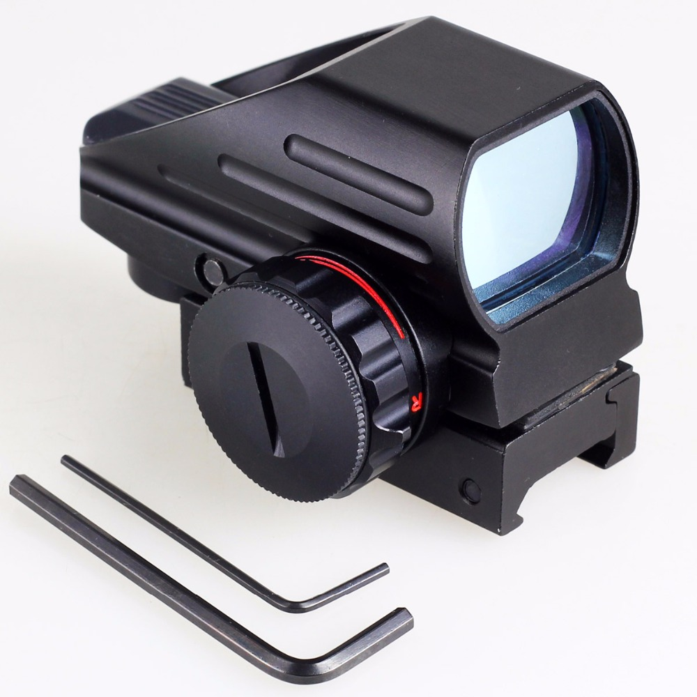 Tactical Red-Green Punto Laser Dot Sight Scope Tattico Reflex Air Rifle Pistola Airgun Caccia Rail Mount 12 GA 20mm