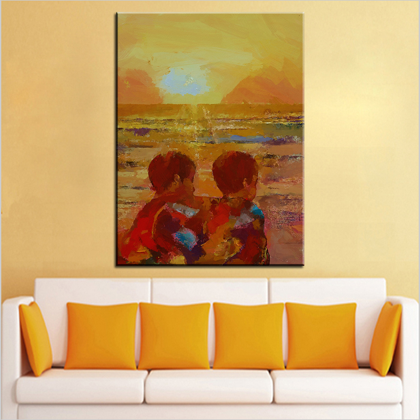 Large size Printing Oil Painting brothers Wall painting Home ...