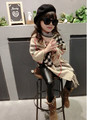 new Shawl Scarf baby girl Toggle Cape Coat plaid Poncho Jacket Bohemian