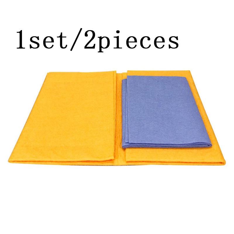2PCS/1set Anti-grease Bamboo Fiber Dish Cloth Washing Towel Absorbent dishwashing Kitchen Cleaning Wiping Rags Shamwow