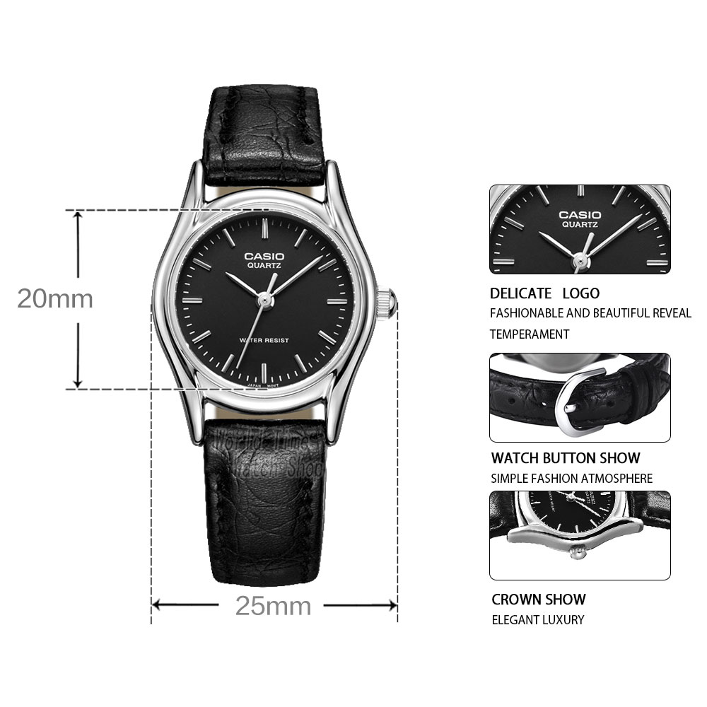 cff317177b3 Casio watch Analogue Women s Quartz Watch Fashion Simple Waterproof Pointer  Leather Strap Watch LTP 1094E-in Women s Watches from Watches on  Aliexpress.com ...