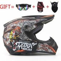 Three Gifts Motorcycle Men MALE FEMALE Motocross Off Road Match Helmet Protective Helmets ATV Dirt Bike