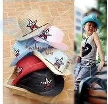 50 шт Детская летняя туристическая шляпа со звездами suv солнцезащитная
