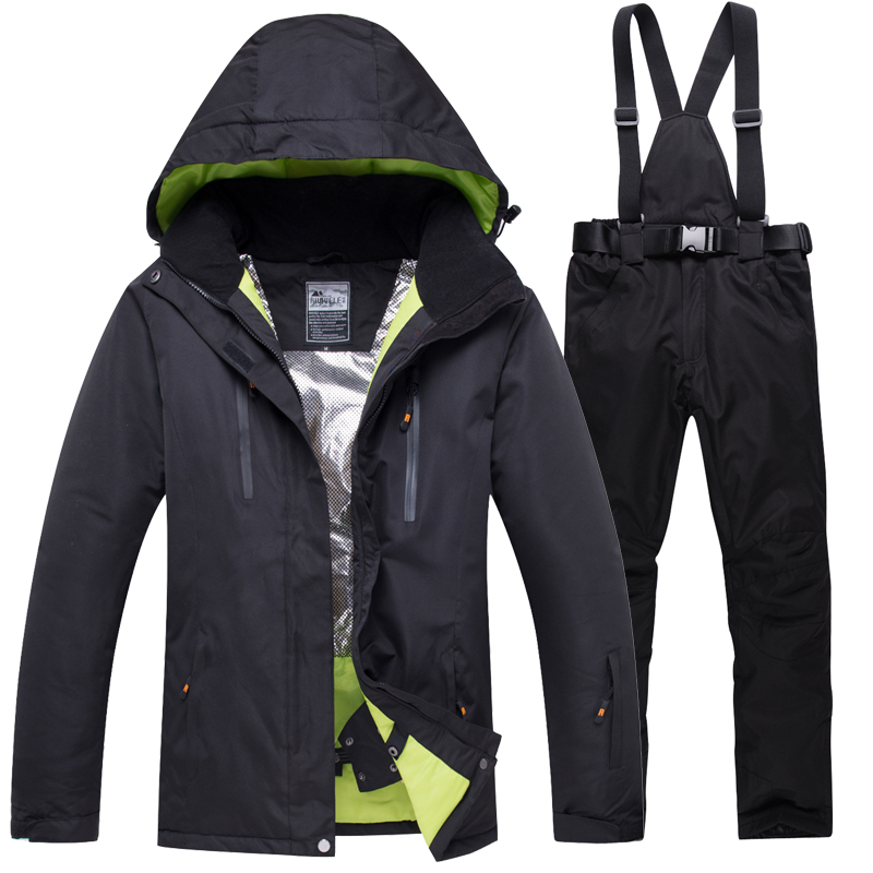 Men Ski Suit 2020 NEW Windproof Waterproof Thermal Snow Pants Women Men Lovers Sets Skiing Snowboarding Suit Men Ski Jackets