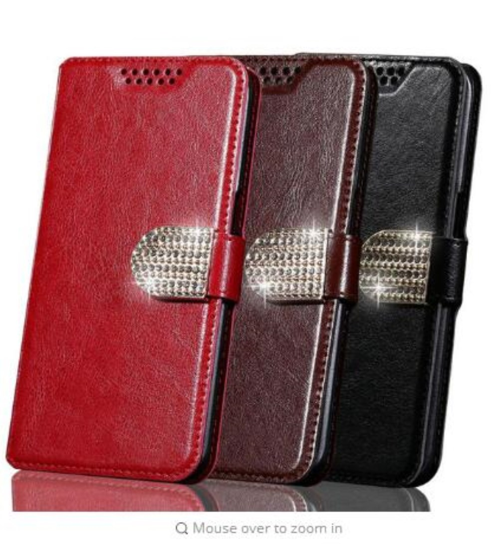 Luxury Wallet PU Leather Case For Cricket Vision Wave Cover Protection Flip Phone Case Coque image