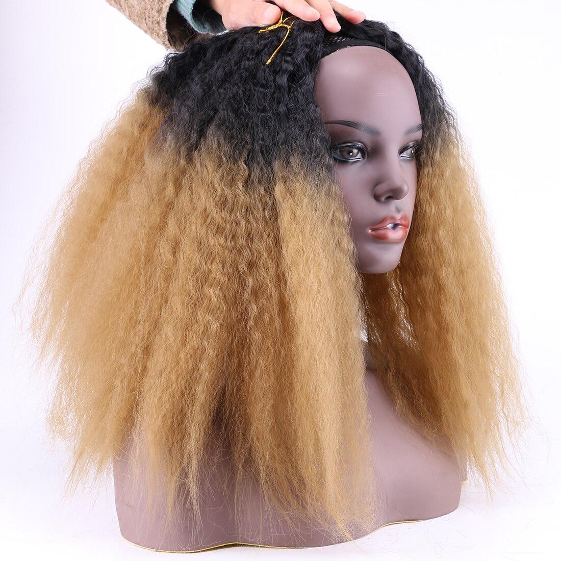 da extensão do cabelo Sintético preto para