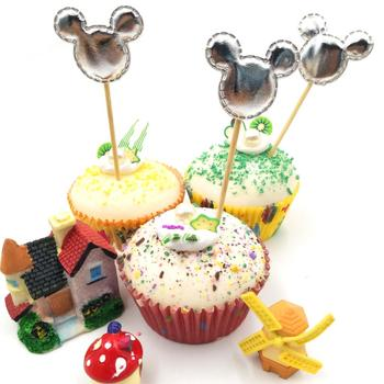 5Pieces/lot Mickey Mouse Handmade Lovely Cupcake Toppers Cake Party Supplies Birthday Wedding Party Decoration image