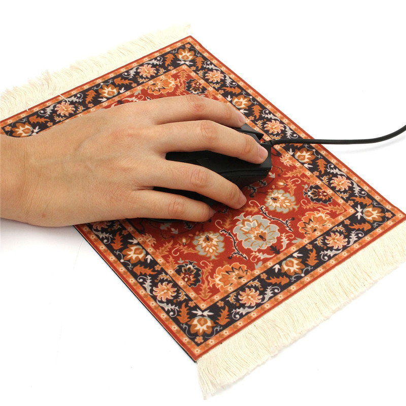 280 X 180mm Carpet Mouse Pad Vintage Rubber Tablet Mat Gaming Computer Mouse  Mat Gamer Persian