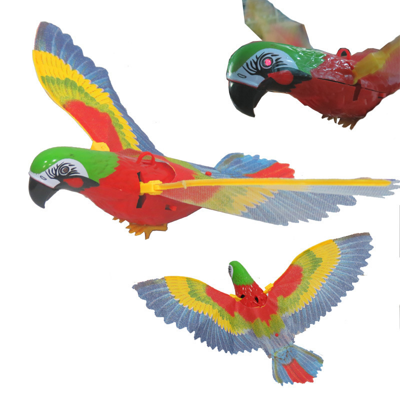 Electric Parrot Disconnect The Birds Flying Will Be Bright Voice With Lamp Music Electronic Plastic Sounding Educational