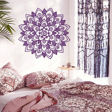Art Home Decor Mandala Flower Yoga Wall Decal Indian Om Buddha Ornament Murals Vinyl Carving Living Bedroom Sticker W-35