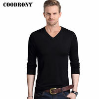 COODRONY Spring Autumn Pullover Men Woolen Sweater Men Knitted Cotton Pull Homme Classic Casual Long Sleeve