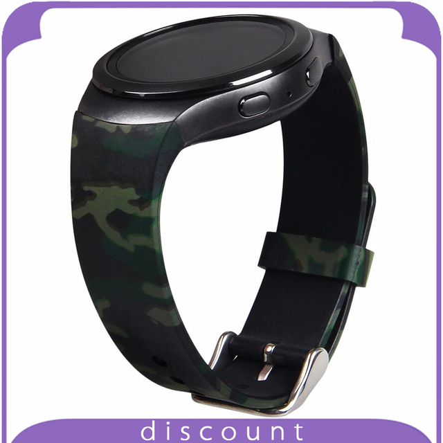 Band for Samsung Gear S2 Camouflage Pattern Soft Silicone Rubber Replacement Strap Band Bracelet for Samsung Gear S2 Smartwatch