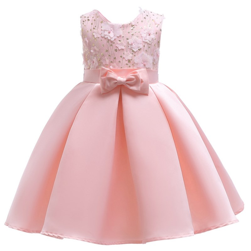 Baby Girl Princess Dresses Embroidery Kids Clothes Wedding Dress For Birthday Party Kids Toddler Clothing Children Custumes цена