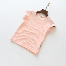 summer children's cotton short-sleeved T-shirt baby boys and girls fashion cute personality simple T-shirt shirt kids tops tees