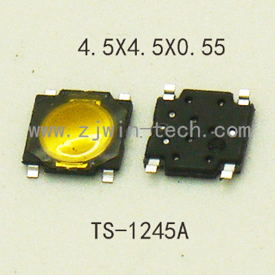 50pcs/lot 4.5x4.5x0.55mm Super Tiny Light Touch Push Button Tactile Switch Momentary tact SMD for phone screen конденсатор 50pcs lot smd tpsv687k006r0035 680 6 3vv avx