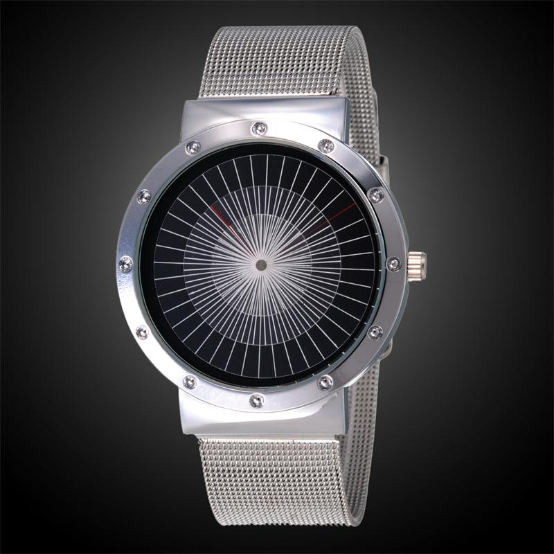 2017 New Fashion Casual  Stainless Steel Mesh Band Strap Bracelet Paidu Turntable Wrist Watches Gift for Men Women paidu fashion unique brand black silver quartz metal mesh band wrist watch mens boy turntable dial digital gift wristwatches