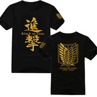 Japan Anime Attack On Titan Scouting Legion Men Boys Unisex Short Sleeve Summer T Shirt Tee