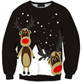 autumn style Sweatshirt Christmas Snow Elk Patterns Fleecs shirts For Women casual loose style clothings