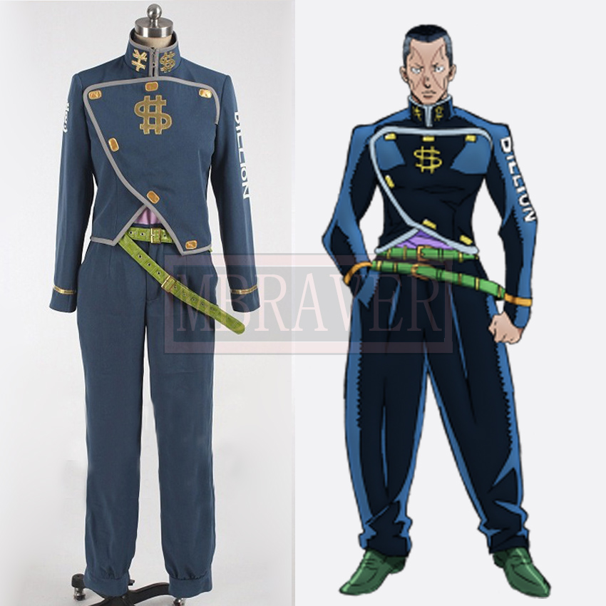 JoJo's Bizarre Adventure Okuyasu Nijimura Cosplay Costume Custom made