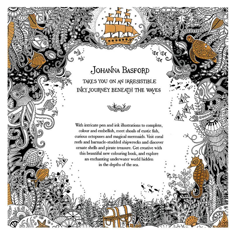 Aliexpress Buy 24 Pages LOST OCEAN Coloring Book Antistress For Children Adult Relieve Stress Painting Drawing Secret Garden Colouring Books From