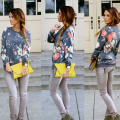 Floral T Shirts Long Sleeve Women Summer Fashion Oversize Big Plus Size Shirts S M L XL XXL XXXL